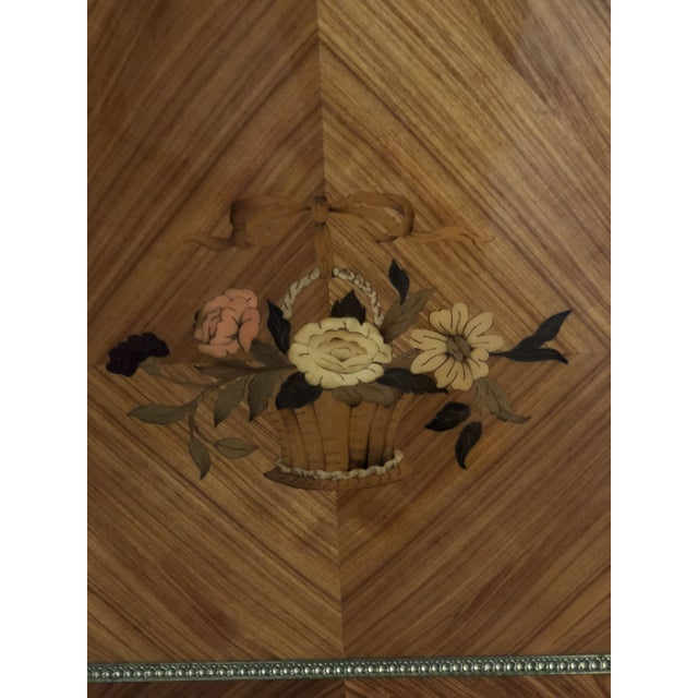 Bronze French Louis XVI Mahogany Marble Top Enfilade For Sale - Image 7 of 9