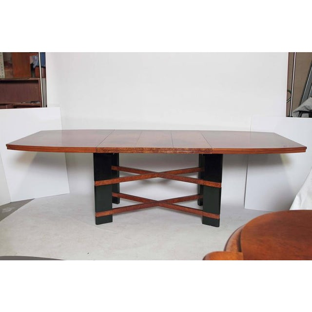Art Deco Hastings Dining Table / Chairs Double X-Base Teague / Deskey For Sale In Dallas - Image 6 of 11