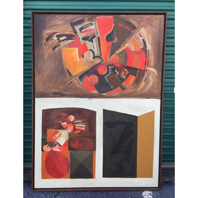 Brown Large Abstract Oil Painting by Garner For Sale - Image 8 of 8