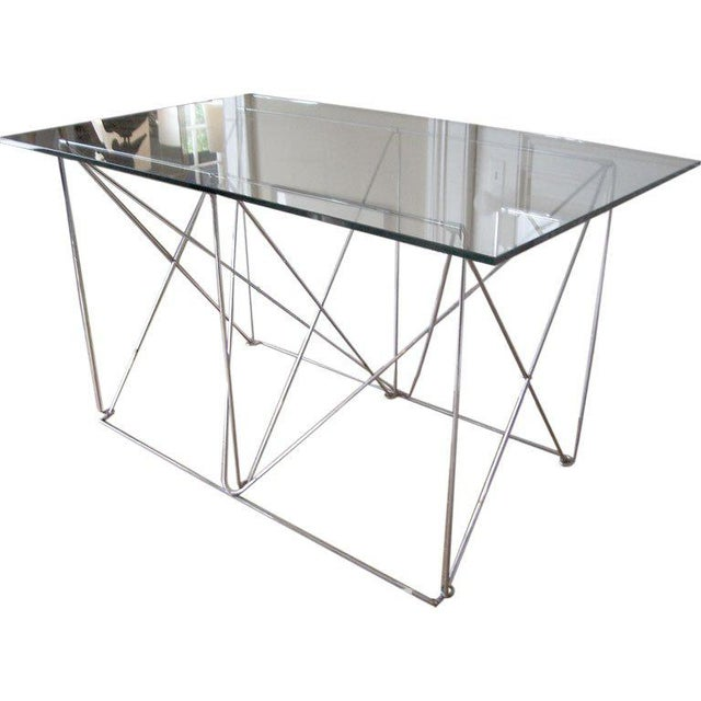 1970s Architectural Steel Base Table For Sale - Image 5 of 5