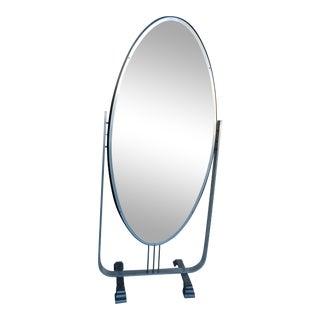 Art Deco Full-Length Aluminum Shield Mirror