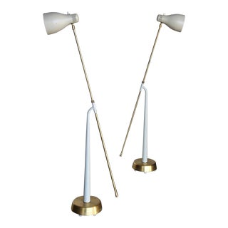1945 Hans Bergström Model 541 Floor Lamps for Atelje Lyktan, Sweden - a Pair For Sale