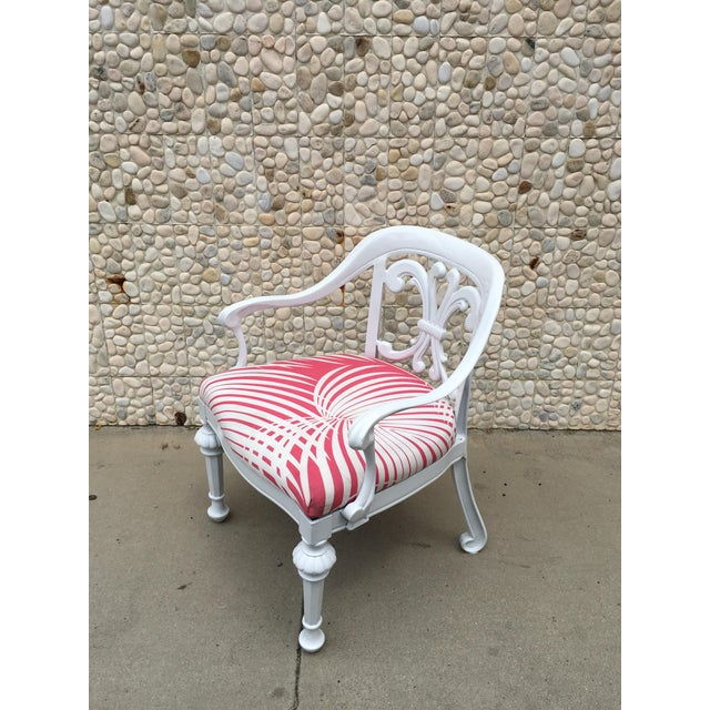 Hollywood Regency Set of 4 Dorothy Draper Rare Patio Chairs Made by Kessler For Sale - Image 3 of 9