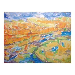 "Large Abstract Landscape by Trixie Pitts ""Kimberley Gorge"""
