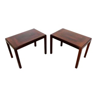 Mid Century Modern Vejle Stole Mobelfabrik Rosewood Side Tables Denmark 70s - a Pair For Sale