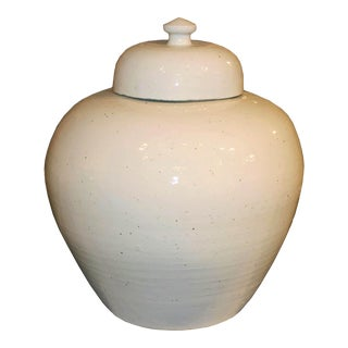 White Lidded Ginger Jar For Sale