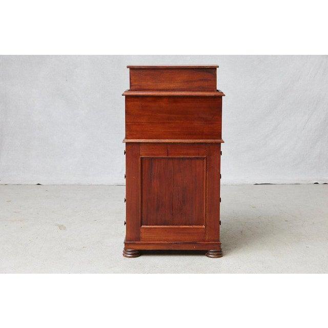Paper 20th Century Walnut Piano Top Davenport Desk For Sale - Image 7 of 13