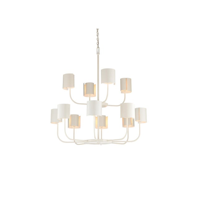 Wildwood Castle Yard Chandelier, White For Sale - Image 4 of 4