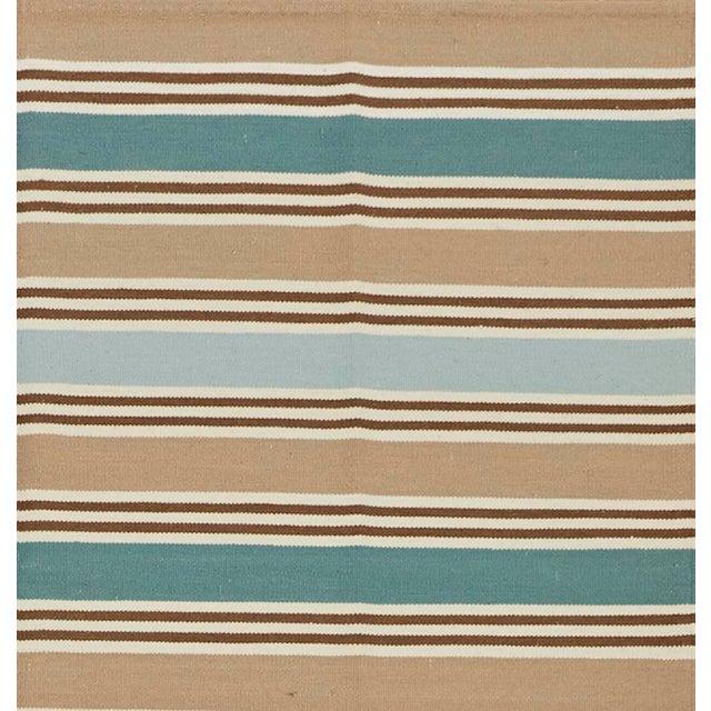 Contemporary Schumacher Patterson Flynn Martin Bosun Stripe Hand Woven Wool Modern Rug For Sale - Image 3 of 5