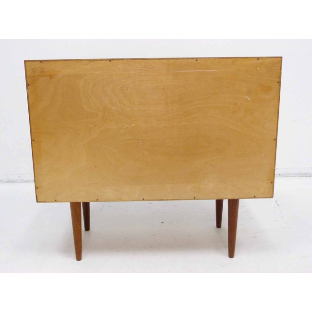 Brown Danish Teak Record Cabinet by Povl Dinesen For Sale - Image 8 of 10