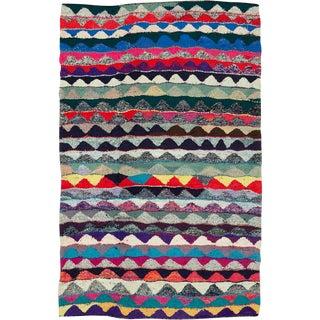 "Vintage Persian Flatweave Kilim Rug – Size: 4' 11"" X 7' 9"" For Sale"