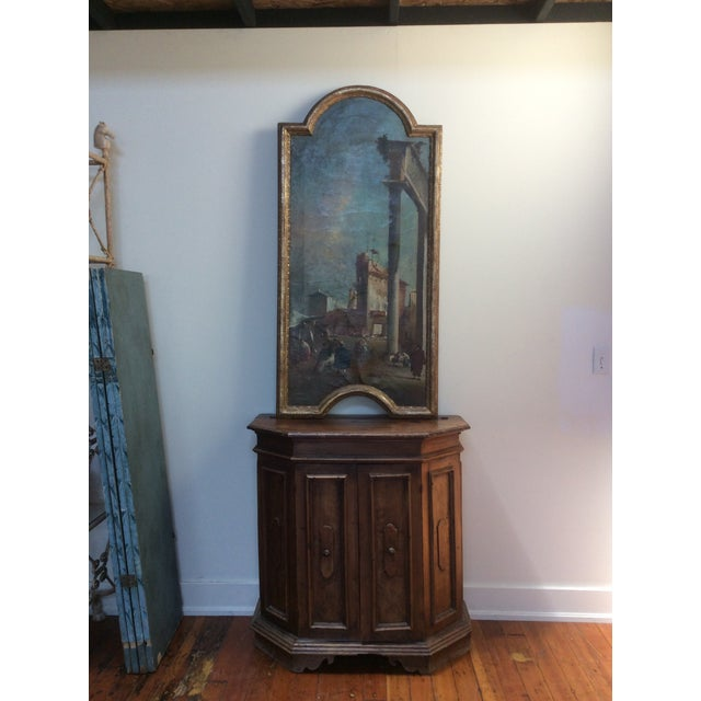 18th Century Italian Guardi Style Painting For Sale - Image 9 of 11
