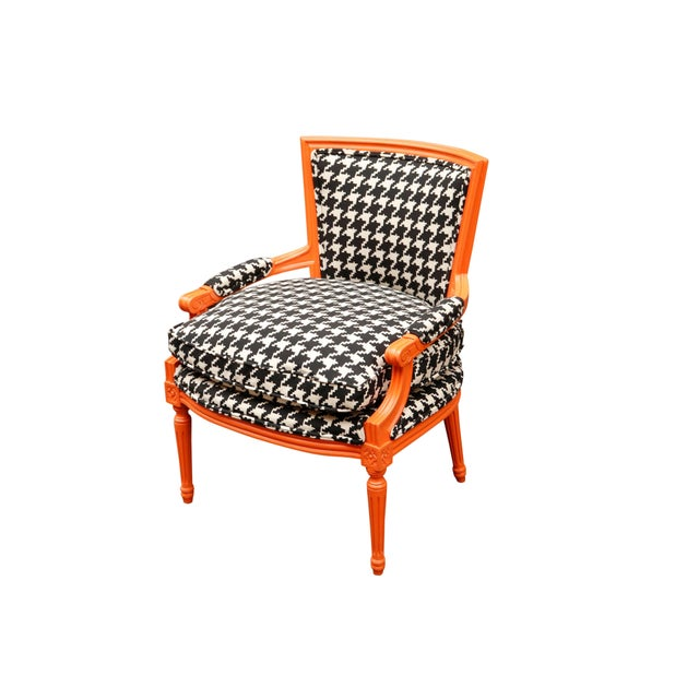 Textile 1940s Traditional French Lounge Chair For Sale - Image 7 of 7