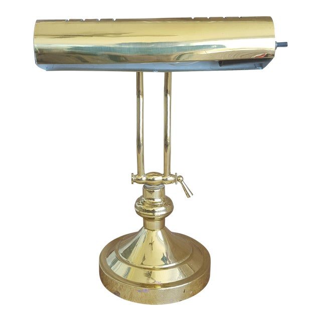 Terrific Vintage Brass Adjustable Desk Piano Lamp Download Free Architecture Designs Viewormadebymaigaardcom