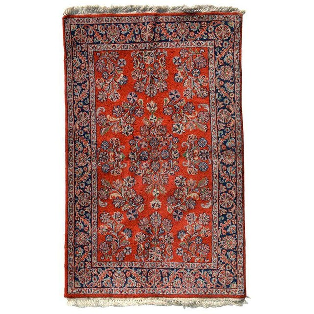 Blue Antique Persian Rug For Sale - Image 8 of 8