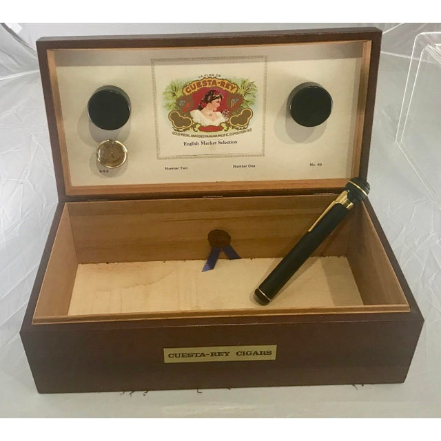 Modern 1980s Traditional Cuesta-Rey Cigar Humidor For Sale - Image 3 of 12