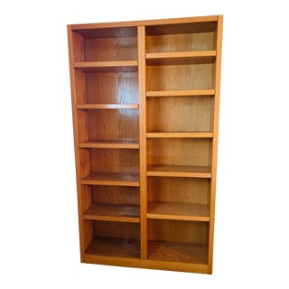 1990s Solid Wood Handcrafted Bookshelf For Sale