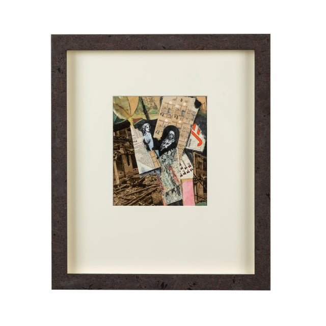 Mid 20th Century English Mixed-Media Collage For Sale - Image 5 of 5