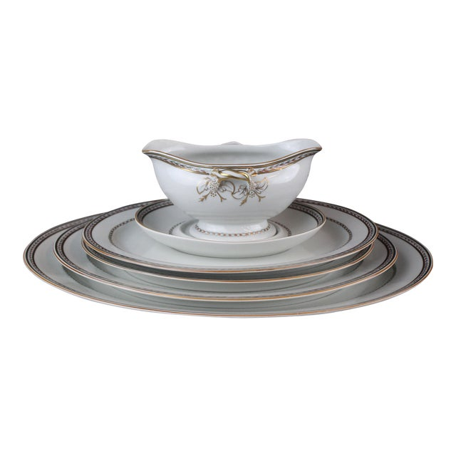 Vista Alegre Platters & Gravy Boat - Set of 6 For Sale