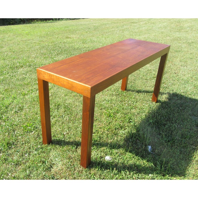 1960s Mid-Century Modern Teak Sofa /Hall Table Signed Paine's Furniture For Sale - Image 5 of 10