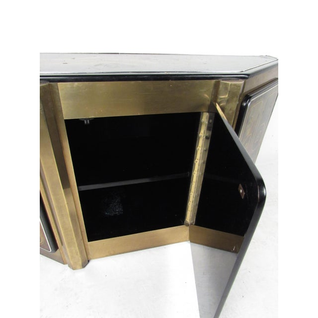 Stunning Mastercraft Demilune Console Cabinet by Bernhard Rohne For Sale - Image 11 of 13