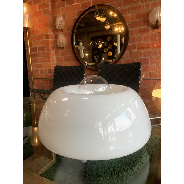 White Flos White Hand Blown Murano Glass Table Lamp For Sale - Image 8 of 10