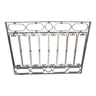 Antique Victorian Iron Gate Window Garden Fence Architectural Salvage Door #126 For Sale