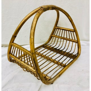 Vintage Albini Bent Rattan Holder Preview
