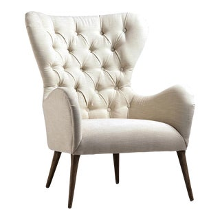 Tufted Back Arm Chair For Sale