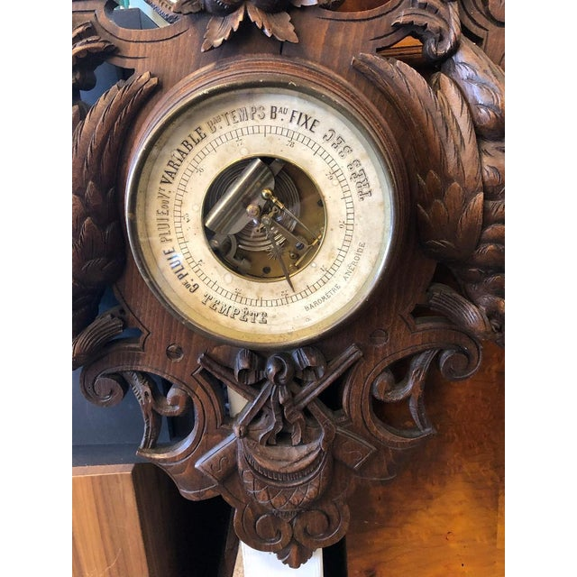 19th Century French Black Forest Louis XIII Barometer For Sale - Image 4 of 6