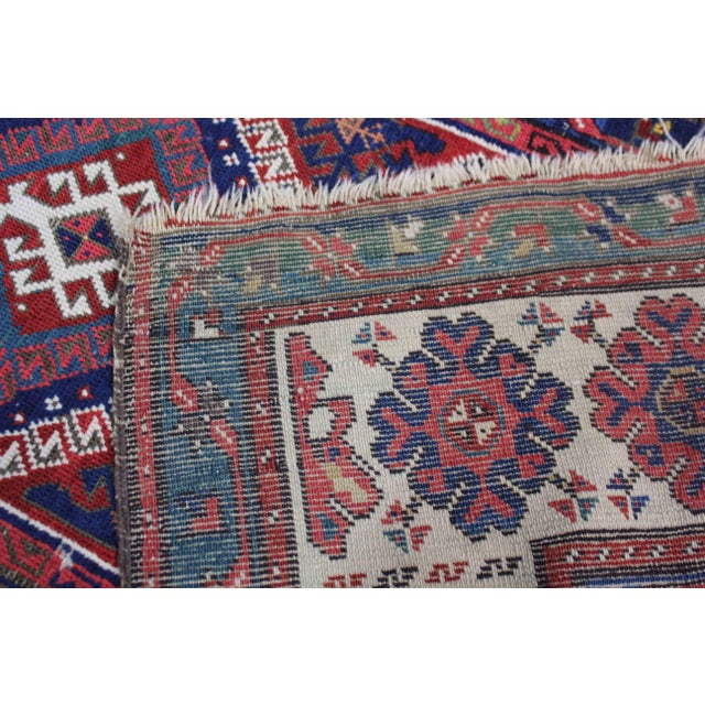 Late 19th Century Antique Hand-Knotted Talish Kazak Rug - 3′4″ × 8′4″ For Sale - Image 11 of 12