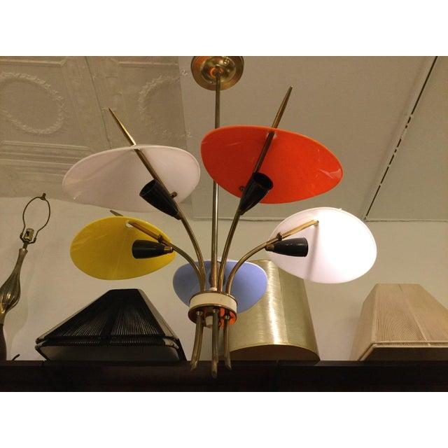 Italian Italian 5 Shade Chandelier For Sale - Image 3 of 3