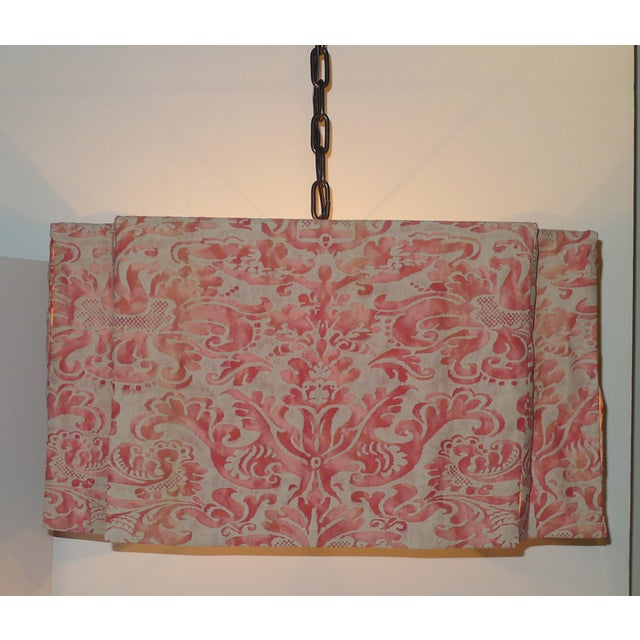 Modern Draped Chandelier in Vintage Fortuny Fabric by Paul Marra For Sale - Image 11 of 11