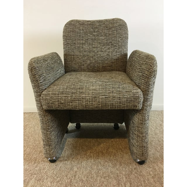 Vintage Tweed Accent Chairs - A Pair - Image 6 of 9