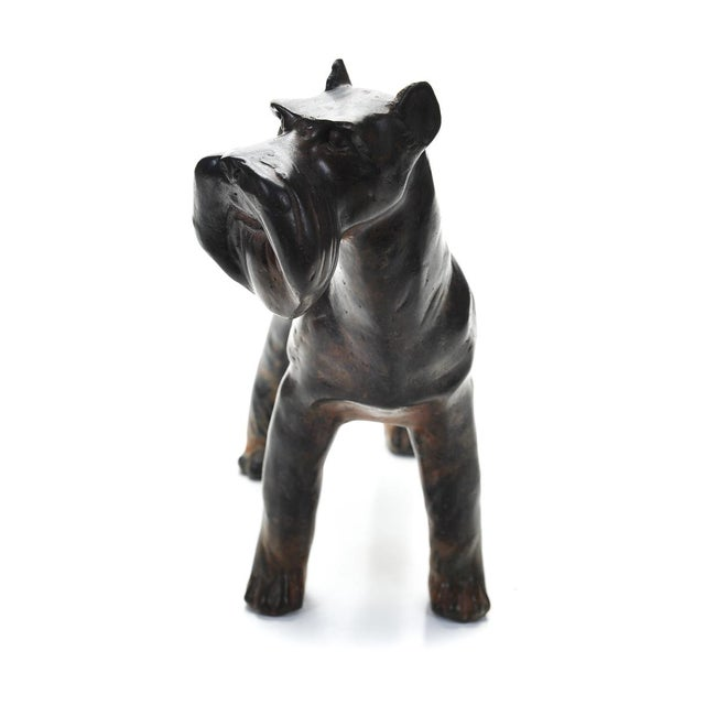 """We love the clean, artisan lines of this 1920a vintage, bronze scottie sculpture. Size 10 x 10"""""""