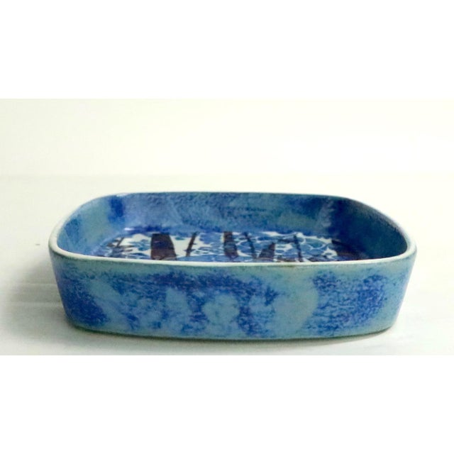 Mid-Century Modern Modernist Nils Thorsson for Royal Copenhagen Fajance Bowl For Sale - Image 3 of 6