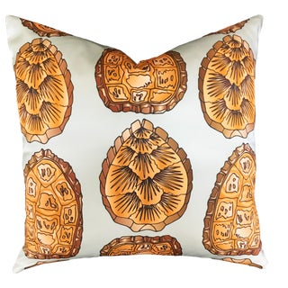 Turtle Shell Morning Mist Pillow For Sale