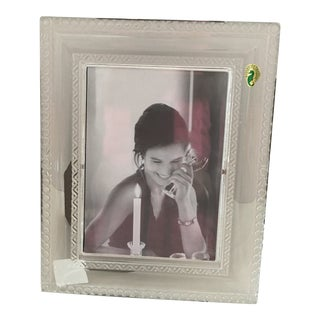 """Waterford """"Ardmore"""" Crystal 5 X 7 Picture Frame For Sale"""