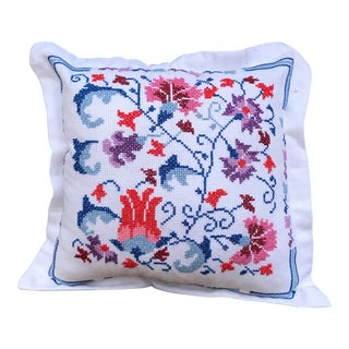 Handicraft Embroidered Decorative Cushion Pillow For Sale
