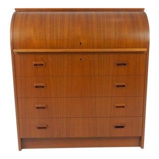 Mid Century Modern Teak Cylinder Desk by Egon Ostegaard For Sale