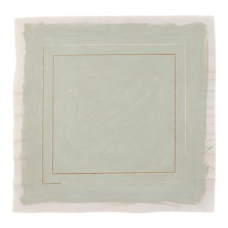 Sage Green Minimalist 20 in Square Art Print by Emily Keating Snyder