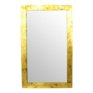 Gold Wood Frame Mirror For Sale