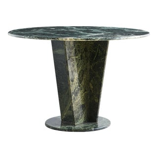 Green Marble Dining Table, Angle Base For Sale