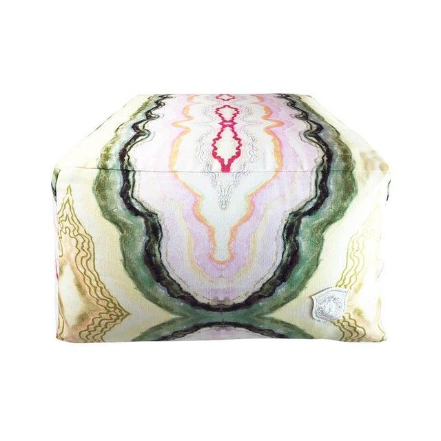 Kristi Kohut Kristi Kohut Cotton Candy Agate Pouf For Sale - Image 4 of 4