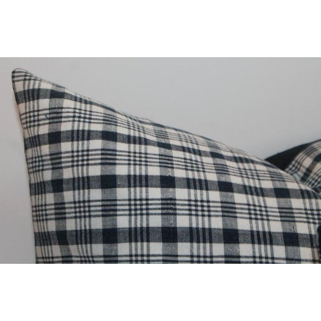 Late 19th Century 19th Century Homespun Linen Blue and White Pillows- 4 Pieces For Sale - Image 5 of 7