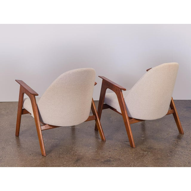 Spectacular American Walnut Armchairs- A Pair For Sale - Image 4 of 11