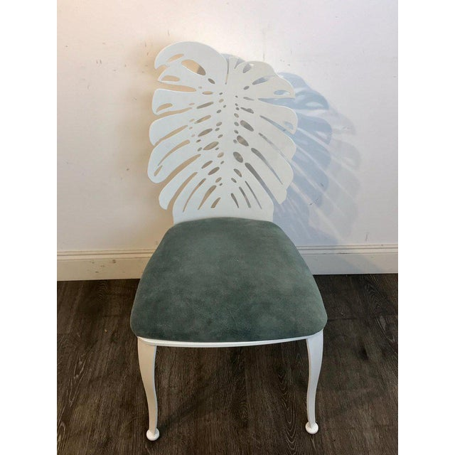White Six 1970s Wrought Iron Palmette Chairs, Restored For Sale - Image 8 of 10
