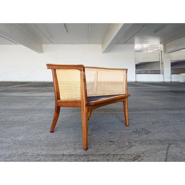 Milo Baughman Cane Back Lounge Chair - Image 2 of 6
