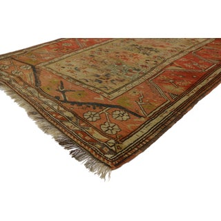 Distressed Antique Turkish Oushak Accent Rug - 4'1 X 5'4 Preview