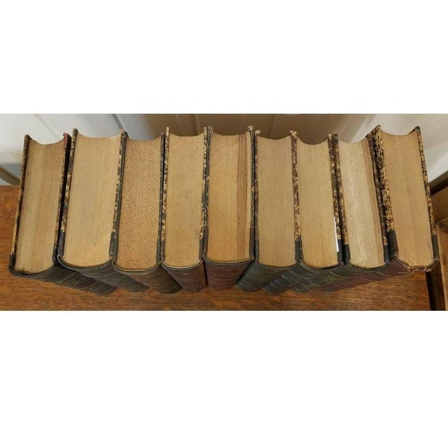 "Vintage Nine Volume Set ""The Atlantic Monthly"" Leather Books For Sale - Image 4 of 9"